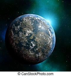 planeta, terra, Ilustração