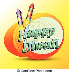 happy diwali - stylish vector happy diwali background