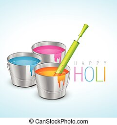 colorful holi festival - vector illustration of colorful...