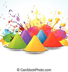 colorful holi festival - vector colorful background of holi...