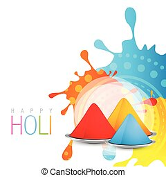 holi festival - beautiful colorful background of holi...