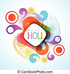 holi festival background - vector beautiful colorful indian...