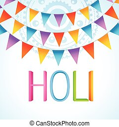 holi festival celebration - vector colorful holi festival...
