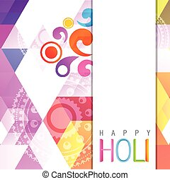 indian holi festival - beautiful vector colorful holi...