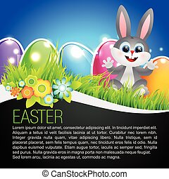 cute rabbit illustration - vector cute rabbit easter...