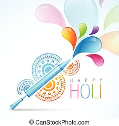 holi festival design - colorful indian holi festival...