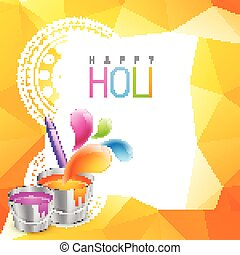 holi festival background - beautiful holi festival vector...