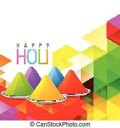 holi gulal vector - vector holi gulal on colorful background