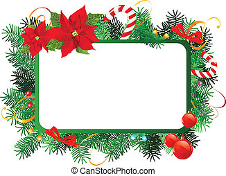 Christmas frame - Vector Christmas frame with Christmas...