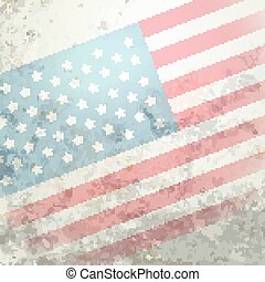 american flag grungy background with space for your text