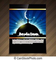 ramadan kareem template - vector beautiful ramadan kareem...