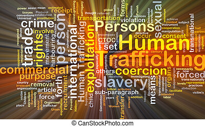 Human trafficking background concept glowing - Background...