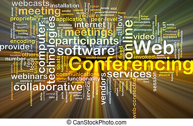 Web conferencing background concept glowing - Background...