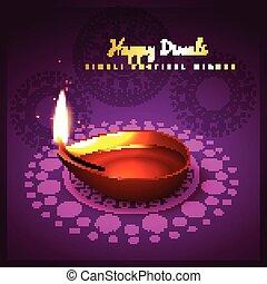 diwali festival - diwali diya festival design background
