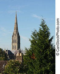 Salisbury Cathedral Spire in England