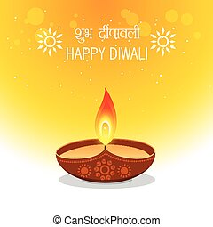 happy diwali wishes greetings illustration