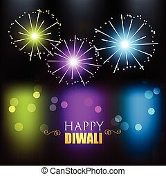 diwali festival fireworks - colorful diwali festival...