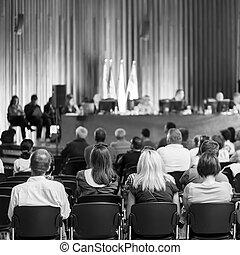 comercio, unión, consultivo, comité, meeting.,...