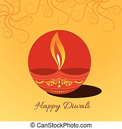 diwali diya background - Vector diwali diya background...