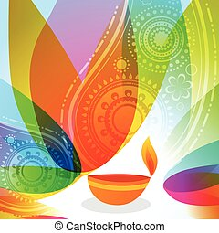 colorful background of diwali - Vector colorful background...