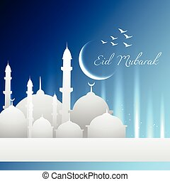 eid mubarak vector design illustration