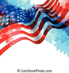 american flag design background