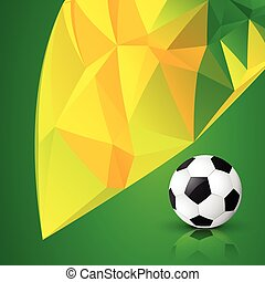 abstract grunge style football
