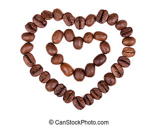 Love coffee. Heart and coffee