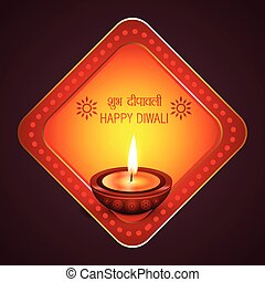 Diwali background with diya