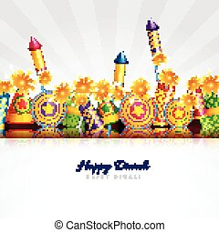 Happy diwali card - Vector happy diwali card