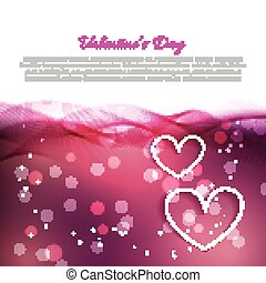 beautiful valentine day background with hearts