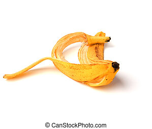 banana peel isolated on white background