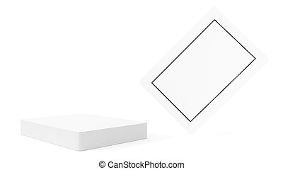 Blank Isolated Playing Cards - Blank plating