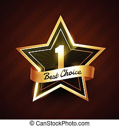 no. 1 best choice golden label badge vector