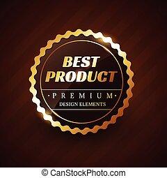 best product premium vector label design