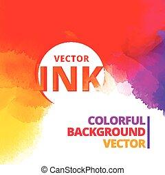 colorful background of vibrant ink splash vector design