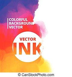 background of colorful ink splash vector design