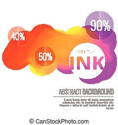 colorful ink splash flowing vector design background