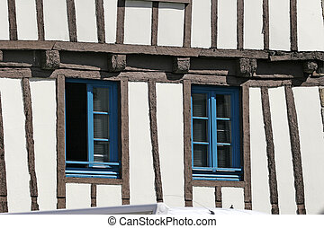 Quimper, timbered house, France - Quimper, timbered house,...