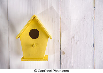Homes for birds - Small colorful houses for shelter birds...