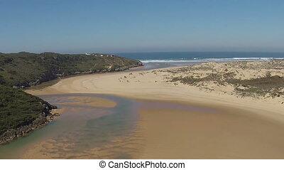 Aerial at praia Amoreira Portugal - Aerial at praia Amoreira...