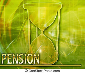 Pension Abstract concept digital illustration - Abstract...