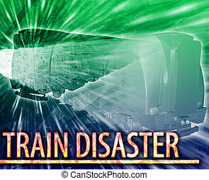 Train disaster Abstract concept digital illustration -...