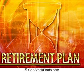 Retirement plan Abstract concept digital illustration