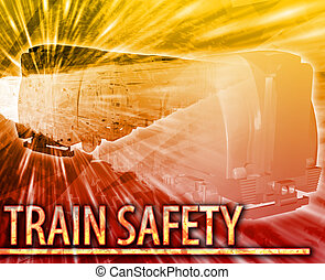 Train safety Abstract concept digital illustration -...