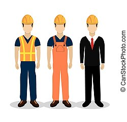 Construction design over white background ,vector...