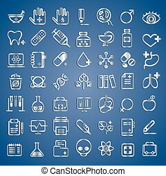 medical icons, vector illustration