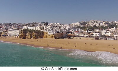 Aerial from Albufeira in Portugal - Aerial from Albufeira in...