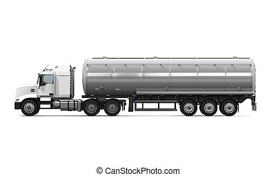 Fuel Tanker Truck isolated on white background 3D render