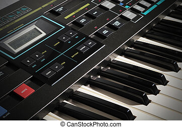 Vintage Synthesizer Keyboard